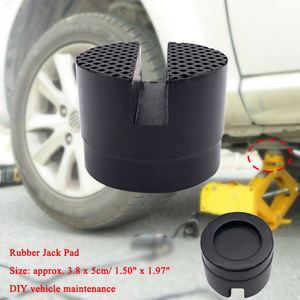 Floor Slotted Car Rubber Jack Pad Frame Protector Adapter Jacking Disk Pad Tool for Pinch Weld Side Lifting Disk new