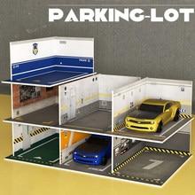 Ölçekli plastik DIY modeli PVC park yeri uzay sahne garaj ev koleksiyonu dekoratif 1:32 simülasyon alaşım araba Model seti CT0195