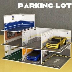 Scale Plastic DIY Model PVC Parking Lot Space Scene Garage Home Collection Decorative 1:32 Simulation Alloy Car Model Kit CT0195
