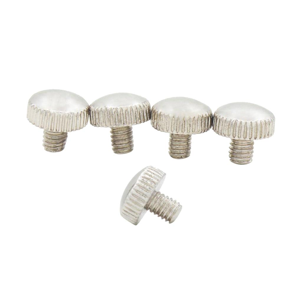5pcs Metal Fastening Screws Silver For Trumpet Ring Ring Coins DIY