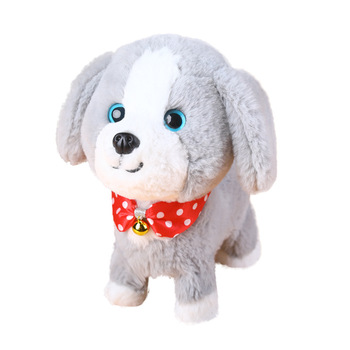 Robot Dog Sound Control Dog Interactive Electronic Toys Plush Puppy Pet Sing Walk Bark Teddy Toys For Children Birthday Gifts kids smart interactive plush puppy kids electronic toys cute robot dog walk bark jump wag tail dog toys for baby birthday gift