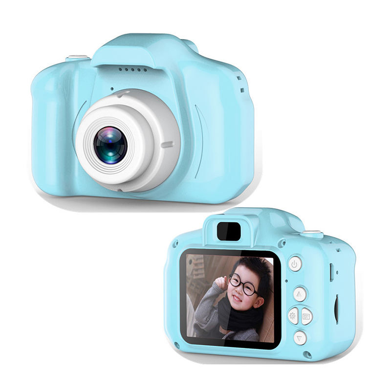 Mini Camera Kids Toys Cartoon 2 Inch HD Screen Digital Cameras Video Recorder Camcorder Language Switching Timed Shooting