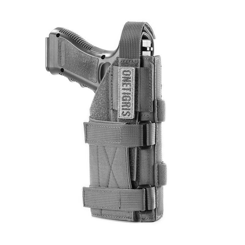 Coldre tático onetigris, cinto modular para atiradores, mão direita, glock 17 19 22 23 31 32 34 35