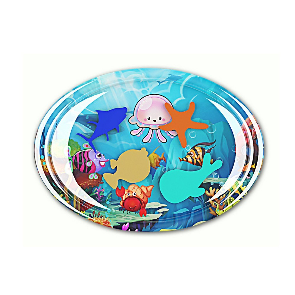 50 * 70cm Baby Oval Colorful Inflatable Water Play Mat Tummy Time Tear-resistant Infant Fun Mat Child Development Play Center