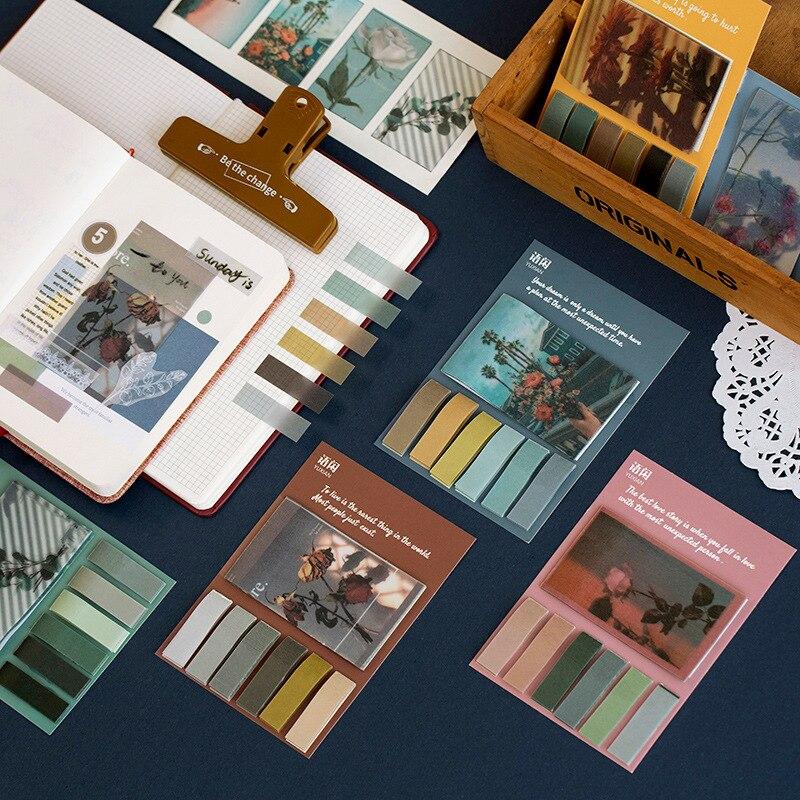 Retro Slow Life Series Retro Sulphuric Acid Paper Memo Pad Notes Memo Notepad School Office Supply Gift Stationery