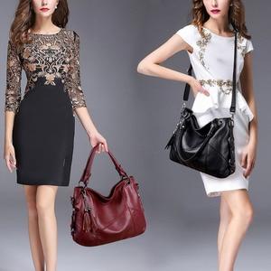 Image 2 - Yonder big women handbags leather shoulder bag female large capacity casual tote bags ladies high quality hobos crossbody bags