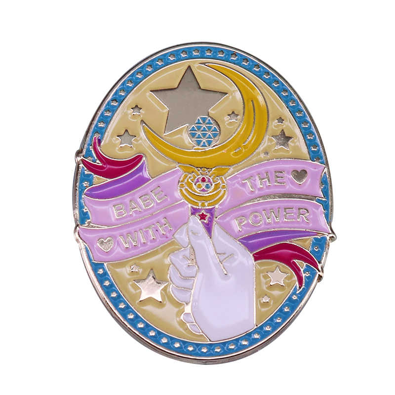 Sailor Moon Maan Stok Broche Meisje Power Pin Magic Sieraden