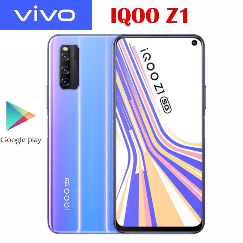 Оригинальный официальный VIVO IQOO Z1 5G сотовый телефон MTK1000 Plus 6,57 дюймов LCD 144 Гц Частота обновления NFC 4500 мАч 44 Вт SupperVOOC 48MP камера