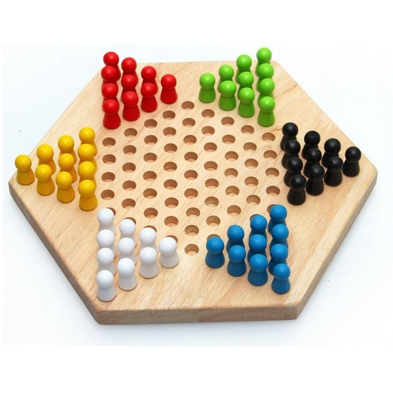 Free shipping Early childhood education Chinese Checkers, Parent child toy Memory Chess kids toys/Wooden draughts