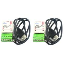 2pcs 2 in 1 USB to RS485 RS232 Converter Adapter with CH340T