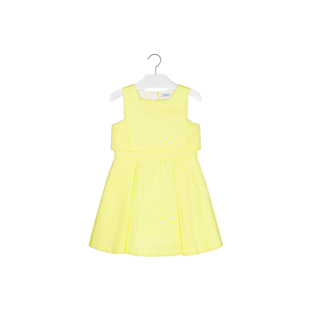 MAYORAL Dresses 10688925 Girl Children fitted pleated skirt Yellow Polyester Casual Solid Knee-Length Sleeveless Sleeve