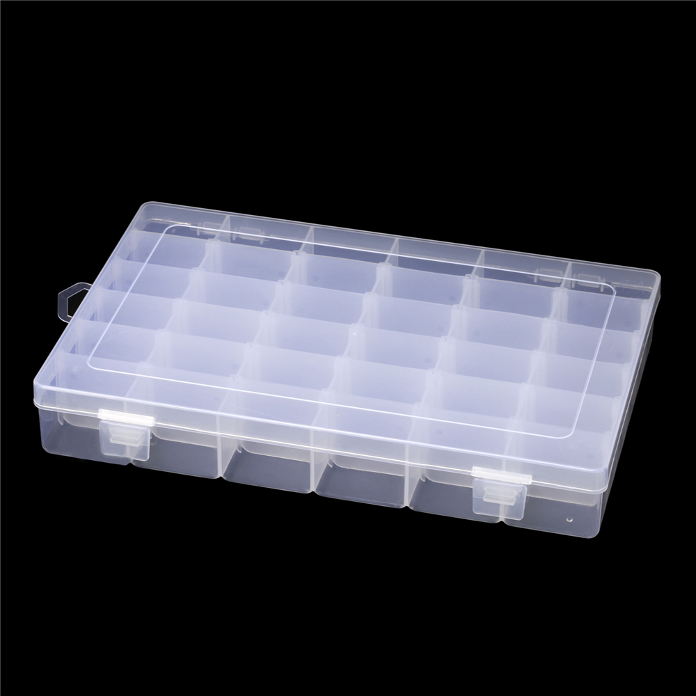 Plastic Adjustable Jewelry Storage Box Case Craft Organizer Beads Containers