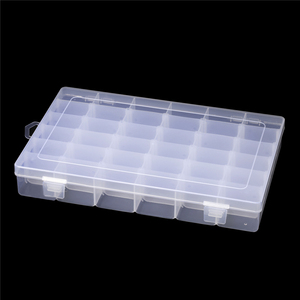 Plastic 36 Slots Jewelry Storage Box Case Adjustable Craft Organizer Beads Jewelry Packaging Sundries Storage Container Case