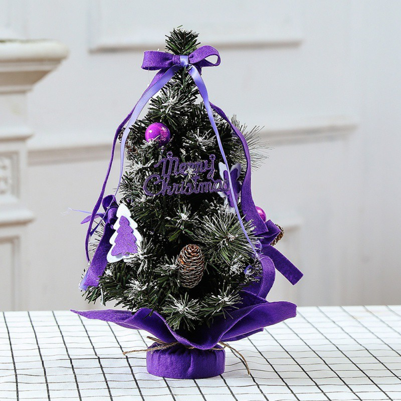 New Year Holiday Christmas Tree Flower Mini Desktop Table XmasTree Decoration Party Ornament For Indoor Home Office Kids Gift Hh