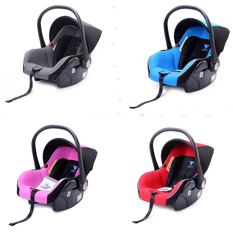 Newborn Baby Car Mounted Basket Car Children's Seat Carrycot Portable Car Mounted Baby Basket
