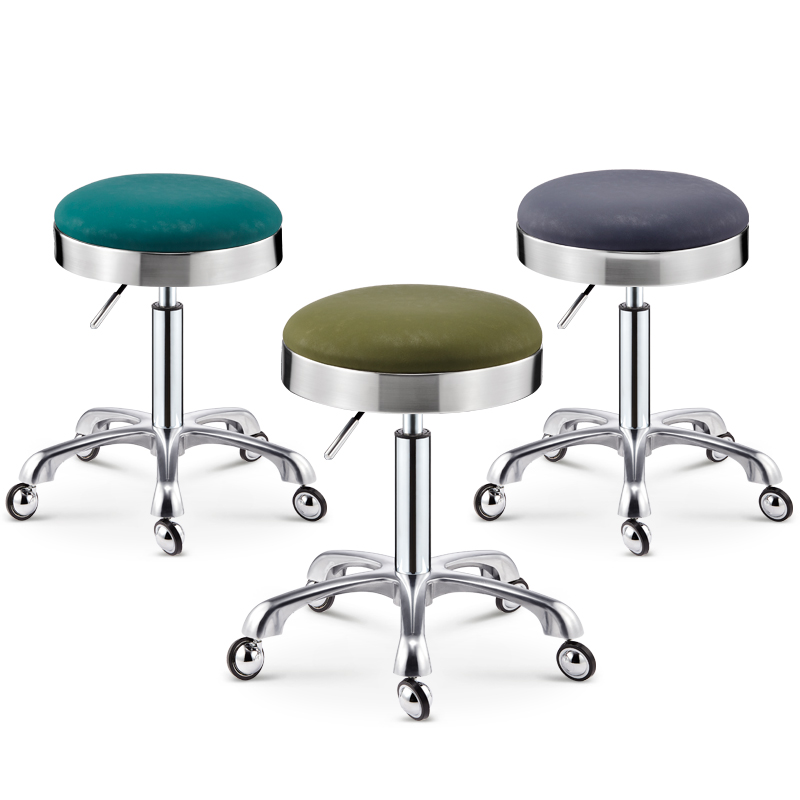 All Stainless Steel Work Bench Store Does Not Card Hair Salon Chair Rotation Lift Barber Shop Chair Hairdressing Round Stool