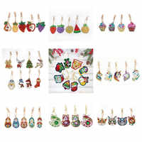 Diamond Keychain Fashion Pattern Unicorn Christmas Keyring Bag Pendant 5D Diamond Painting Christmas Tree For Home Decor