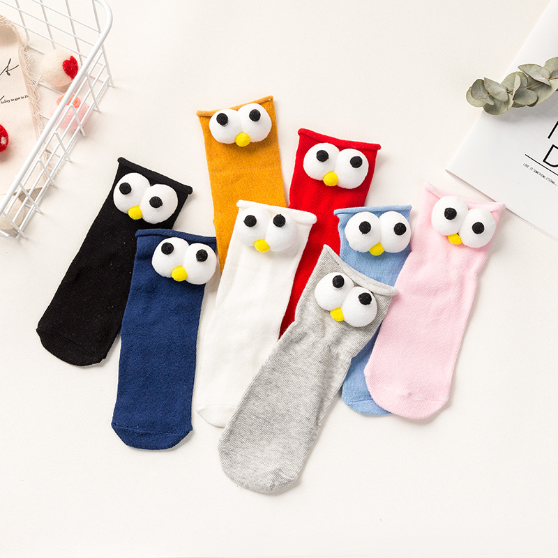 Spring And Autumn Cartoon Animal Head Doll Men And Women Kids BABY'S Socks In Hose Cotton Socks Boneless Children Tube Socks