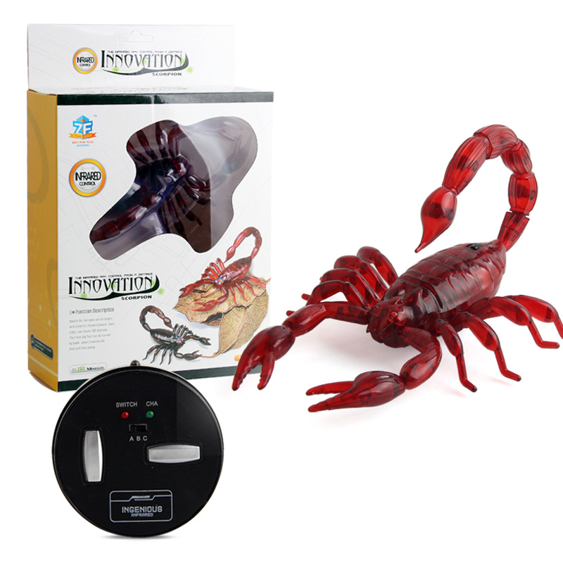 English Version Electric Infrared Remote Control Scorpion Novelty Insects Model Trick Trick Crawling  Animal