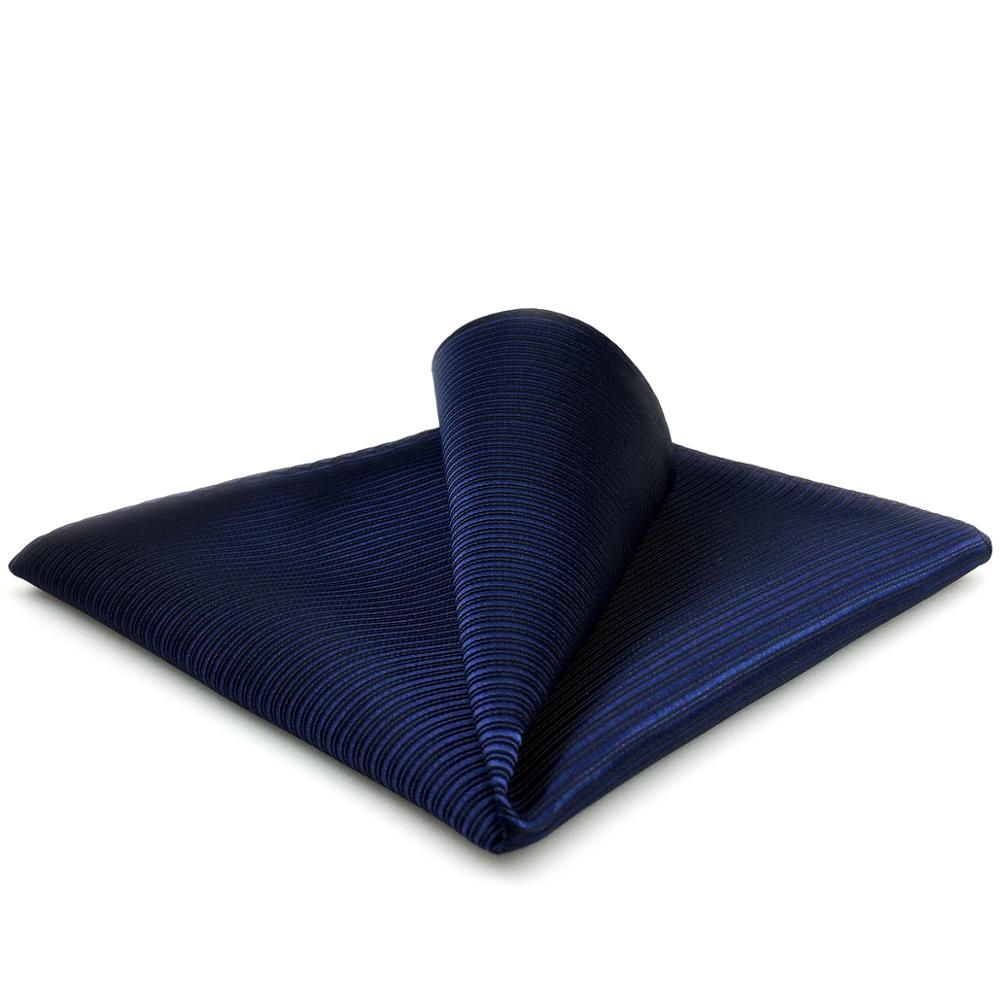 FH20 Solid Blue Pocket Square Classic Business Handkerchief Silk Gift