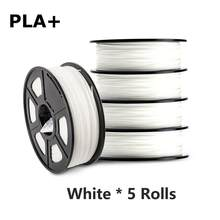 Pla Plus 3D Filament 1Kg 5 Rolls 1.75Mm 2.2LBS Hoge Taaiheid Pla + 3D Afdrukken Materiaal 5Kg fdm 3D Printer Filamenten Groothandel