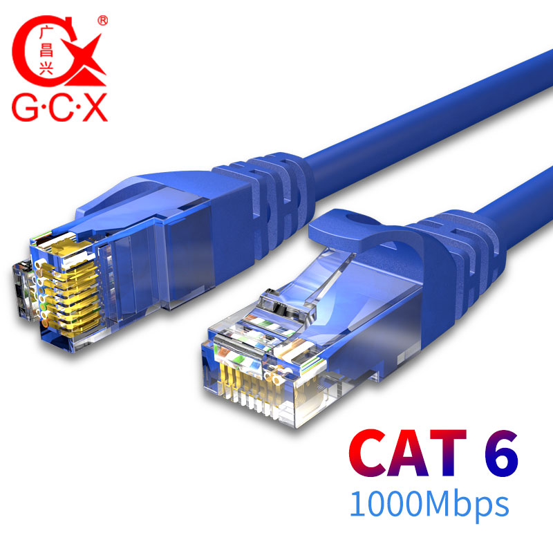GCX 1000Mbps CAT6 Ethernet Cable UTP CAT 6 Patch Cord RJ45 8P8C Lan Internet Jumper Cable Router Net Computer 0.5 1 1.5 2M