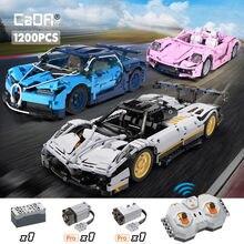Cada 1196 pçs cidade técnica rc carro de corrida modelo blocos de construção moc controle remoto super carro tijolos presentes brinquedos para crianças meninos