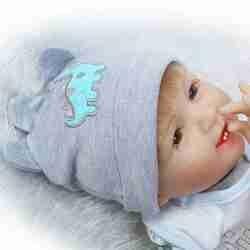55cm Reborn bébé poupée garçon Simulation poupées et les vêtements Playmate enfants jouets cadeaux d'anniversaire de noël accessoires de photographie