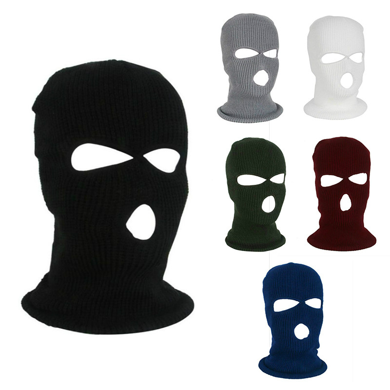 Motorcycle Face Mask Outdoor Winter Sports Cold Protection Fleece Cap Cycling Ski Balaclava Full Face Mask Breathable Windproof