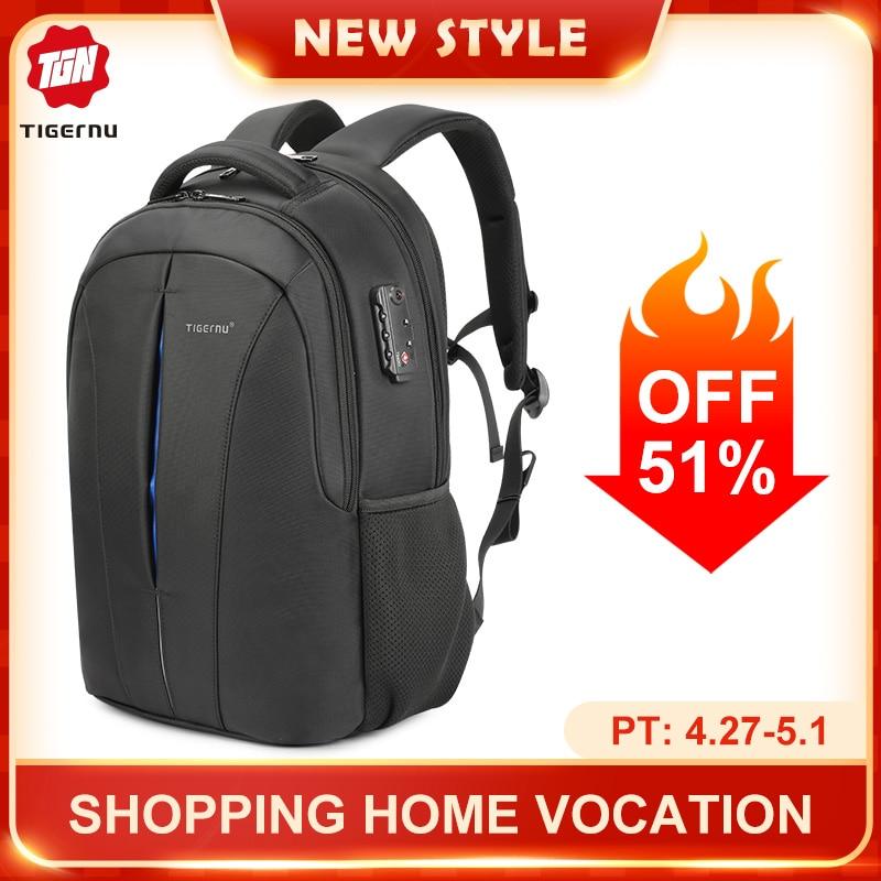 Tigernu Splashproof 15.6inch Laptop Backpack NO Key TSA Anti Theft Men Backpack Travel Teenage Backpack bag male bagpack mochila 1
