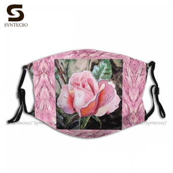 Fast Shipping Breathable A Single Rose Make Me Pink Face Mask Fancy Cloth Bike Adults Mouth Facial Mask With Filters