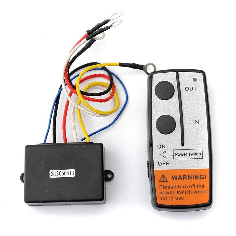 12V 50ft Smart Universals Winch Wireless Remote Control+Manual Transmitter Set Truck ATV SUV Truck Vehicle Trailer Kit
