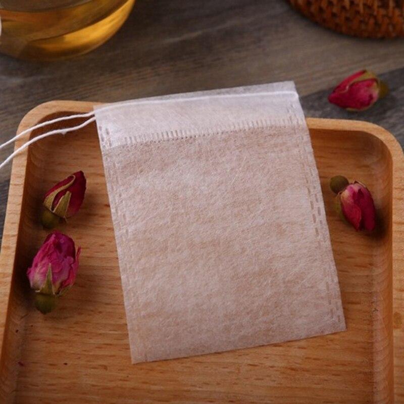 HHO 1000Pcs/Lot New Pla Biodegraded Tea Bag Filters Ultrasonic Corn Fiber Cords Tea Bags Coffee Filter 6X8Cm|Disposable Tea Bags| |  - title=