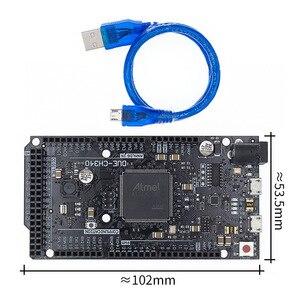 Плата R3 DUE-ATMEGA16U2/CH340G ATSAM3X8E, материнская плата управления ARM с кабелем USB 50 см для arduino
