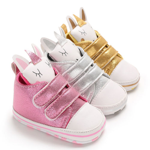 2019 Brand New Newborn Kid Baby Girl Boy Cartoon Unicorn Snow Shoes Winter Soft Sole Prewalker Crib Plush Boots First Walkers