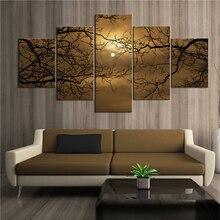 Плакат с модной росписью Луна в мертвой дереве художественный