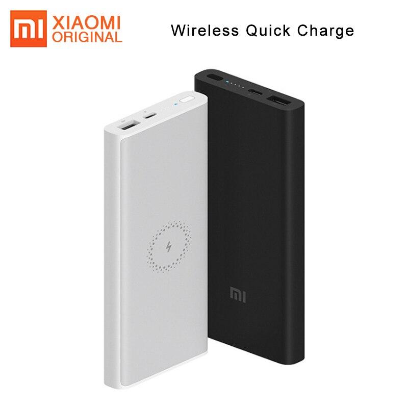 Original Xiao mi Powerbank Banco Do Poder 10000mAh Carregador Portátil USB Sem Fio C mi Batterie Externe bateria Externa Banco de Potência