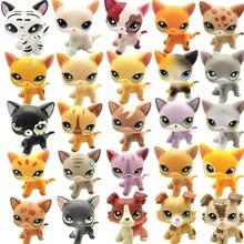 Figura de animal de juguete de LPS para niños, juguete de gato pequeño de oreja grande, estilo de colección Big Dan, regalo para Halloween