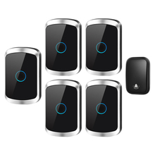 CACAZI Self-powered Waterproof Wireless Doorbell with No Battery US EU UK Plug 1 Button 5 Receiver 60 Chime Smart Home Ringbell cacazi self powered wireless doorbell no battery us eu uk au plug 2 button 5 receiver smart home chime doorbell ring bell 220v