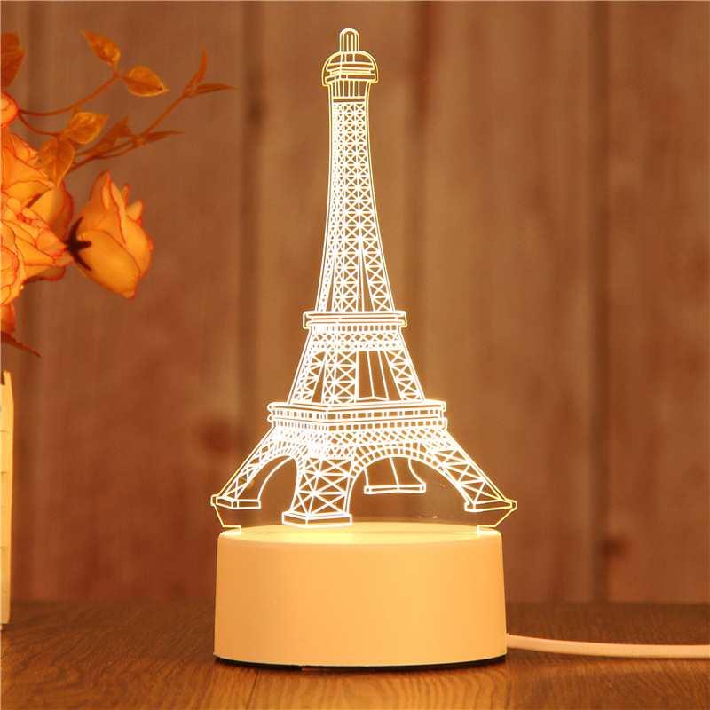 LBAH 3D LED Lamp Creative Night Lights Novelty Illusion Table For Home Decorative