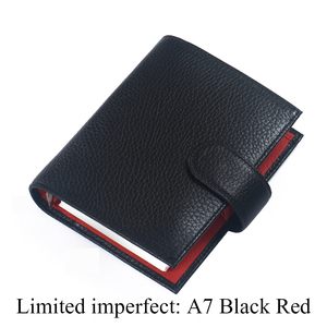 Image 2 - Limited Imperfect Genuine Leather Rings Notebook A7 Size Binder Agenda Litchi Grain Organizer Diary Journal Sketchbook Planner