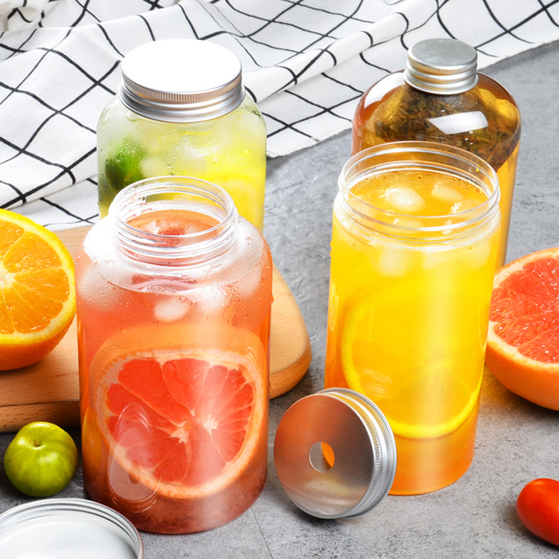 Of Cegar Thai Tea Bottle Cold Tea Bottle Fruit Juice Beverage Online Celebrity Tea Cup Transparent Plastic Cup Fat Bottle Dispos