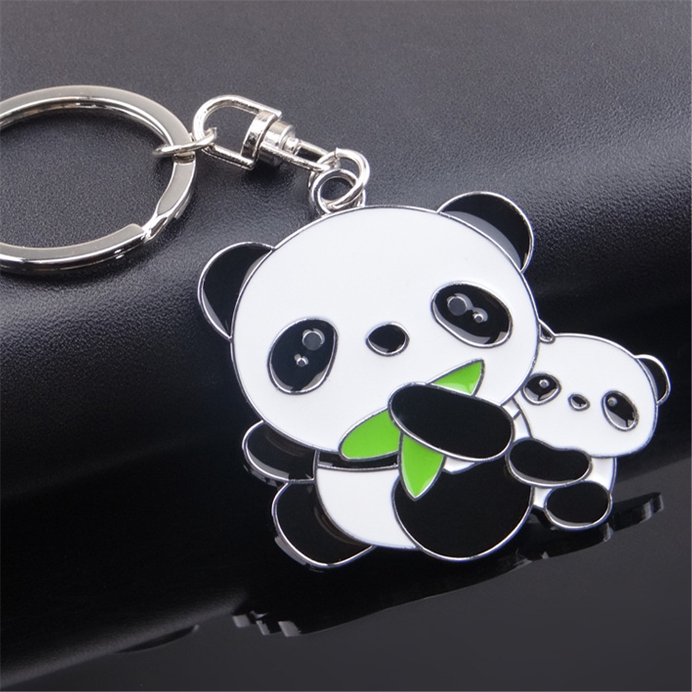 Милый креативный мультяшный брелок из сплава, ювелирные изделия, брелок Панда в виде животного, автомобильный брелок, украшение для сумки д...