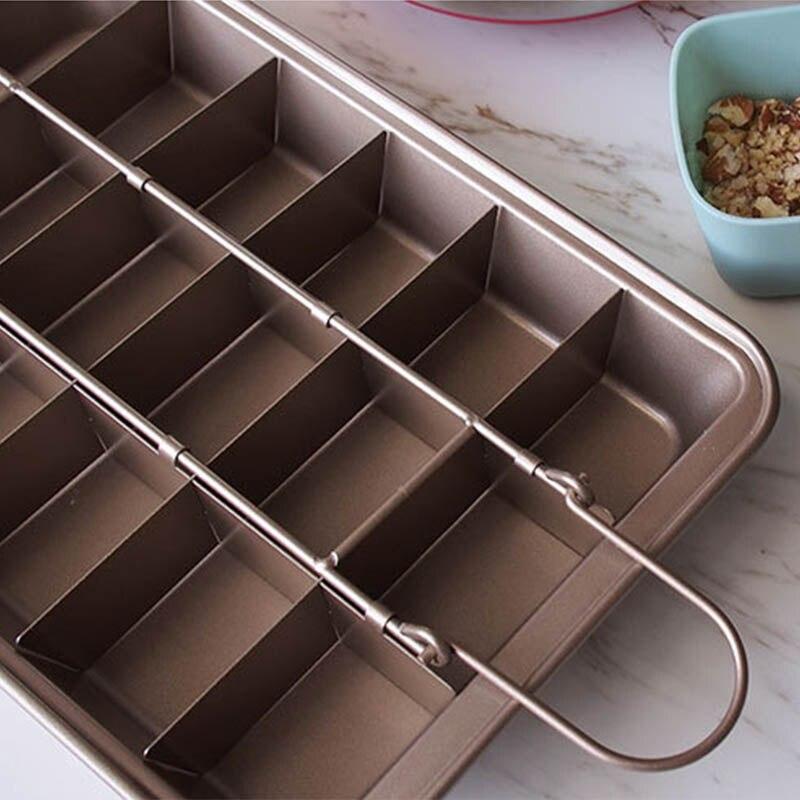 Image 5 - Профессиональная форма для выпечки шоколадного торта 18 полость квадратная решетка из углеродистой стали инструменты для выпечки Легкая очистка сковорода для выпечки коричневого пирога    -