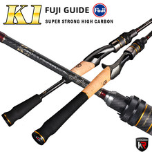 Fuji Umpan Pancing 1.65 M 1.8 M 1.98 M L UL M ML Power Karbon Umpan Spinning Casting Fishing stick 2/4 Bagian Perjalanan Memancing Rod(China)