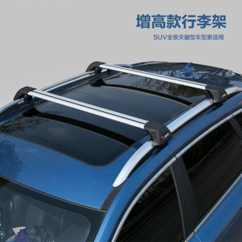 Porte-toit silencieux en alliage daluminium   Accessoires pour Ford EDGE porte-toit en alliage daluminium, porte-bagages