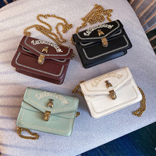 Cute Letter Embroidery Crossbody Bags For Women 2020 Chain Messenger Shoulder
