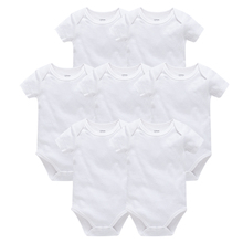 2019 Blank Baby Clothes Solid Design Short Sleeve Cotton Sum
