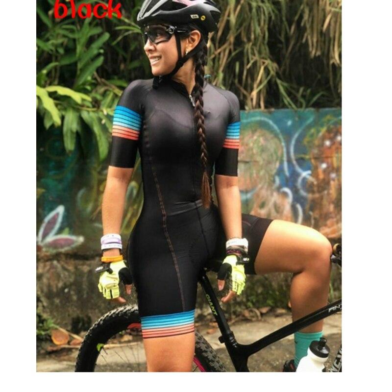 Macaquinho Ciclismo das mulheres triathlon manga curta camisa de ciclismo define skinsuit maillot ropa ciclismo bicicleta jérsei roupas ir macacão macacão ciclismo feminino kafitt conjunto ciclismo roupa de ciclismo 9