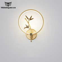 Chinese LED Wall Lamps Modern Copper Decor Wall Sconce Lamp Stair Hotel Wall Lights Living Room Bedside Wall Art Lustre Lighting